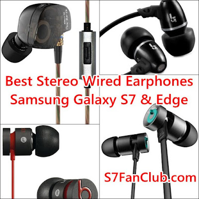 Best Stereo Wired Galaxy S7 Earphones