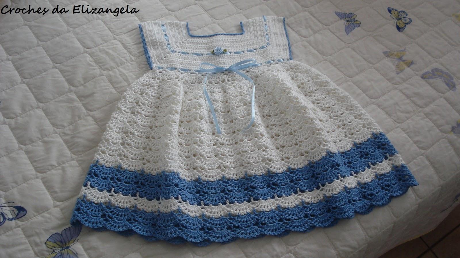 Toc Toc Na Cuca Vestido Infantil Em Crochê Tamanho 2 Anos