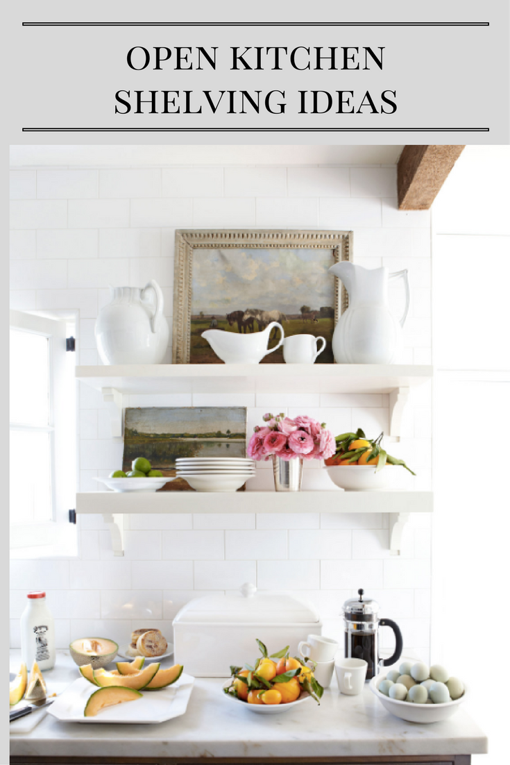 classic  casual  home: Open Shelving Ideas For Your Kitchen