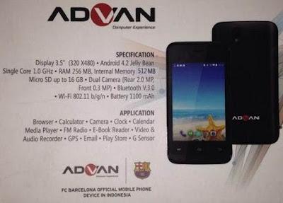 HP Advan Vandroid S3 Lite