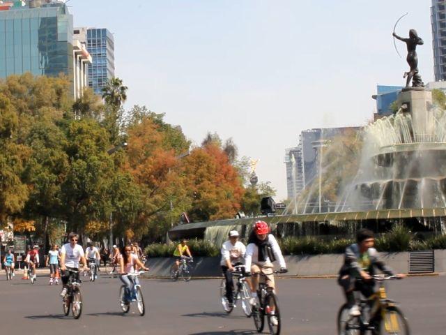 Recorrido en bici por Reforma