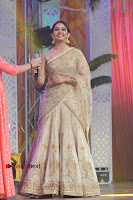 Actress Rakul Preet Singh Stills in Golden Embroidery saree at Rarandoi Veduka Chuddam Audio Launch .COM 0014.jpg