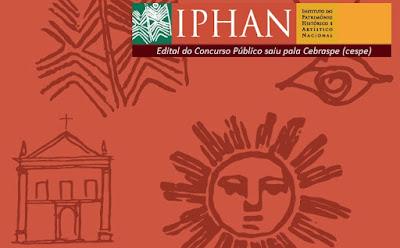 IPHAN edital do Concurso Público saiu pela Cebraspe