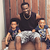 Paul Okoye poses with twins Nathan and Nadia in adorable new photo