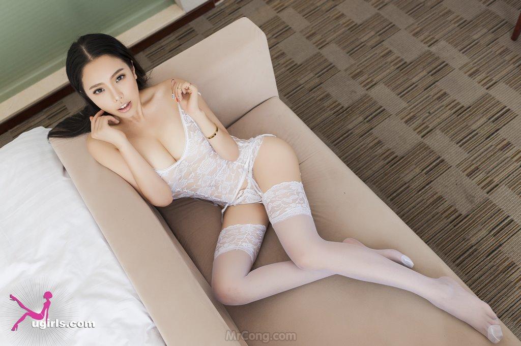Image MrCong.com-UGIRLS-035-Ni-Xiao-Yao-008 in post Mê mẩn ngắm vòng một nở nang của người đẹp Ni Xiao Yao (妮小妖) trong bộ ảnh UGIRLS 035