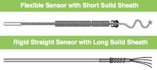 Flexible temperature sensor compare