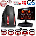 Fast Core 2 Duo Gaming PC Monitor Bundle