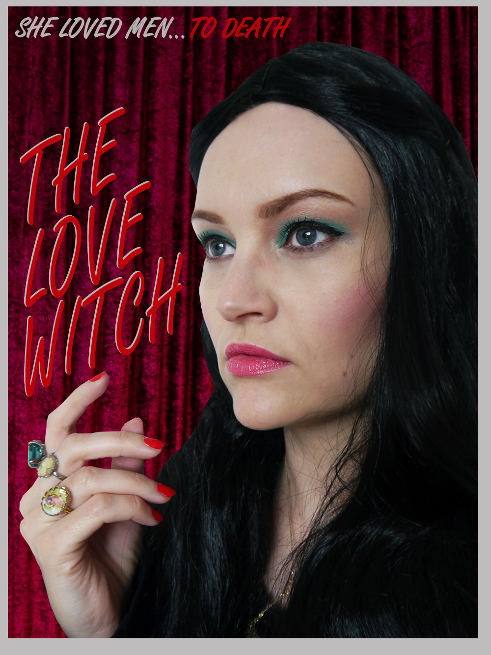 The Love Witch film poster with blogger Kimberley from Wardrobe Conversations as Elaine