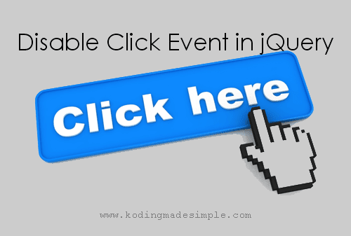 jquery disable click event after click