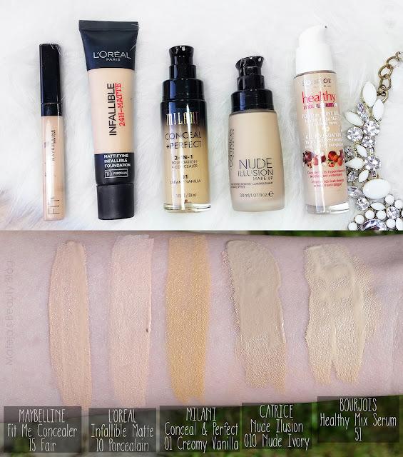Milani Conceal Perfect  In  Foundation Light Natural Vs Creamy Vanilla