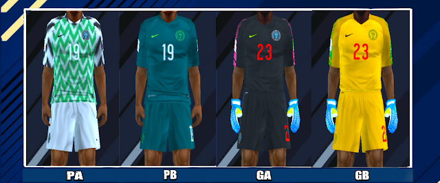 94f631a17 Nigeria 2018 World Cup Kits PES PSP For Emulator PPSSPP
