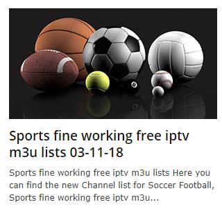 Sports fine working free iptv m3u lists 03-11-2018