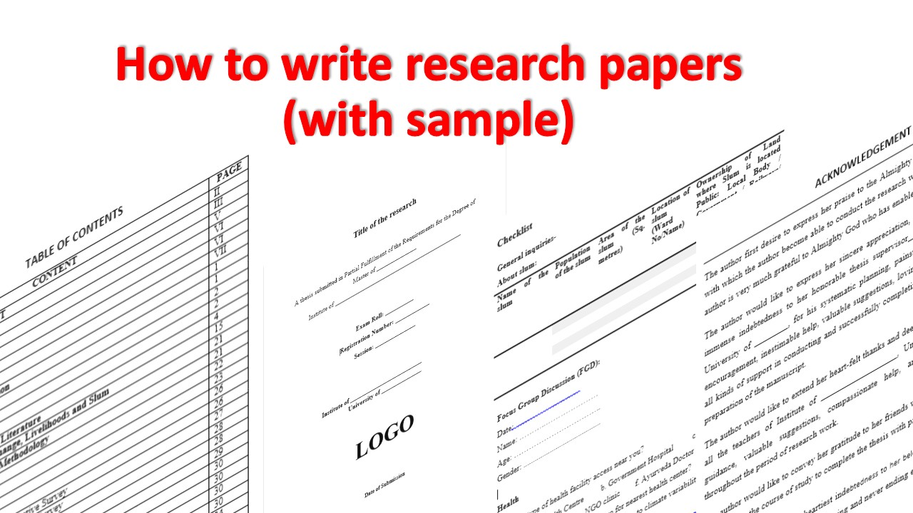 how to write a research paper sample Biology research paper format california state university, bakersfield department of biology failure to write in your own words or to change sentence structure and.