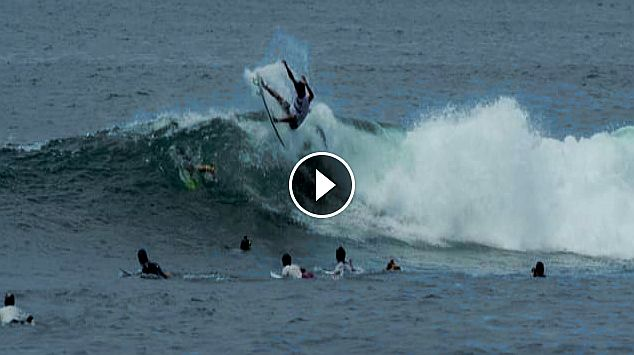 Keramas surf session 4K with Marlon Gerber Jay Davies Nyoman Satriaa Blacky Dermaputra Tonjo Betet Merta and other guys