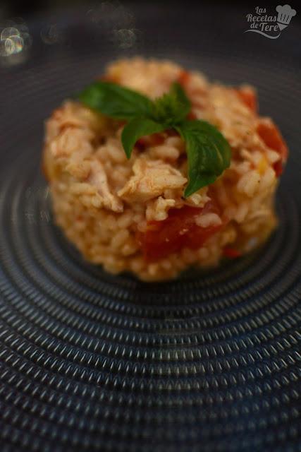 Risotto de pollo tomate y albahaca tererecetas 05