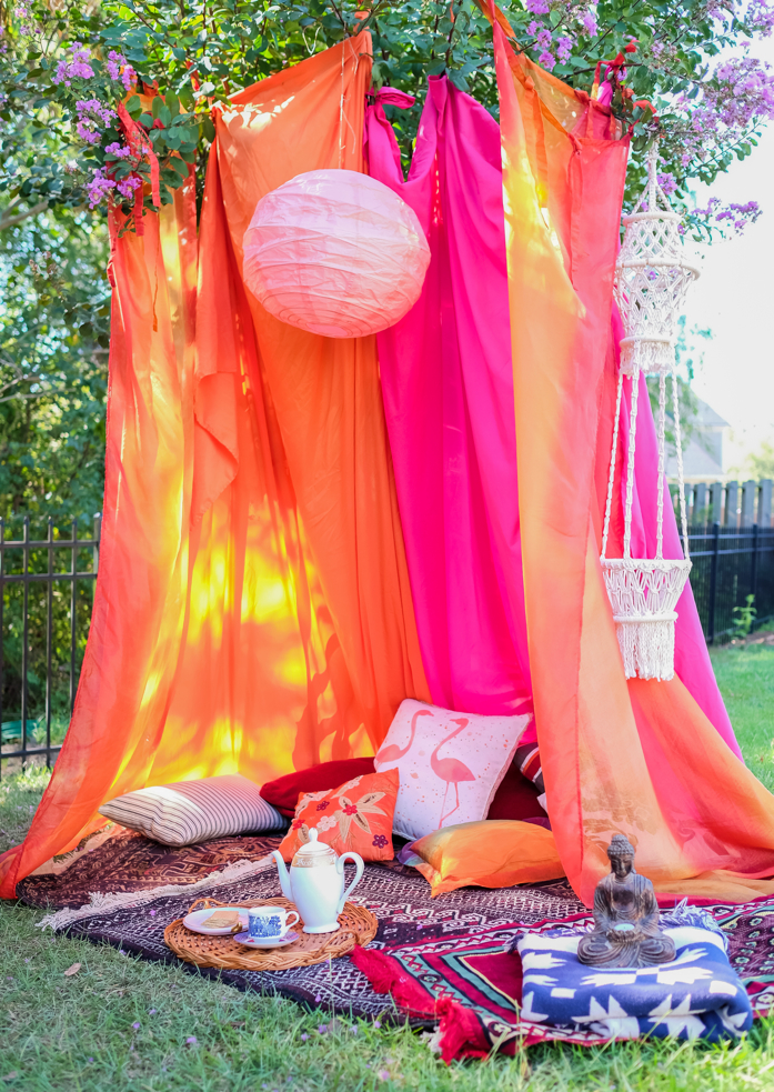 DIY Boho Tent for Fall Outdoor Entertaining-designaddictmom