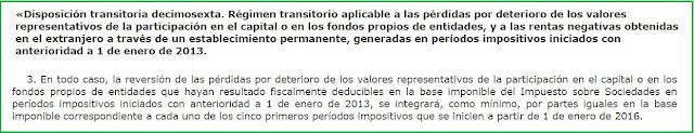 Art. 3.Primero.Dos RD-ley 3/2016. Modificaciones de la Ley 27/2014, de 27 de noviembre, del Impuesto sobre Sociedades.