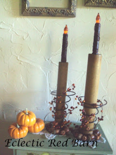 bobbin spool, old springs and fall decor
