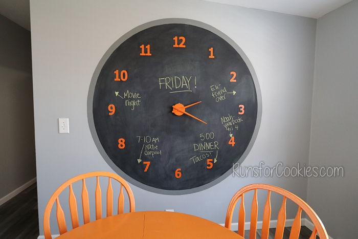 How to Make Your Own Giant Chalkboard Wall Clock