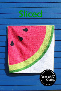 Sliced modern watermelon quilt pattern by Slice of Pi Quilts