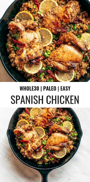 Whole30 Spanish Chicken And Cauliflower Rice