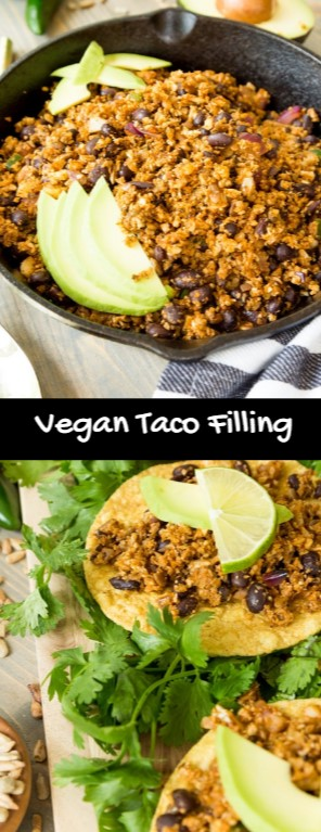 Healthy Vegan Taco Filling