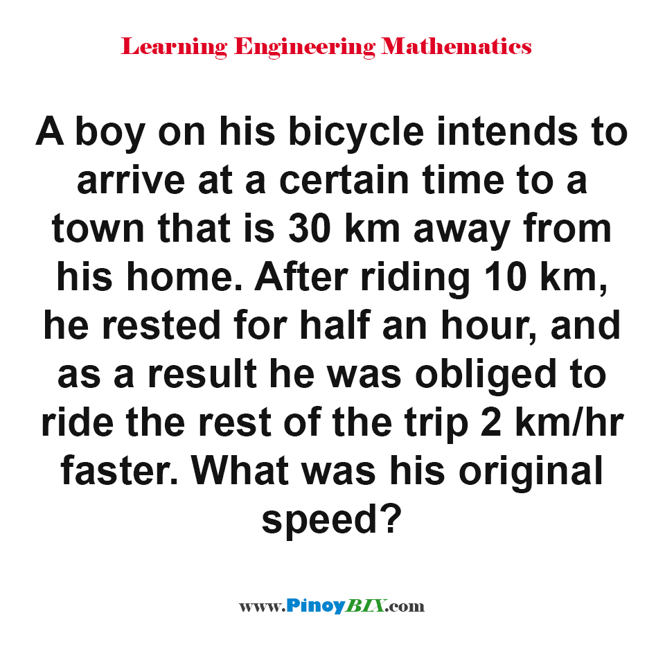 What was his original speed?