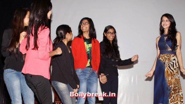 Koyal Rana Visits her school St Thomas Girls School, Miss India 2014 Koyal Rana at St Thomas Girls School