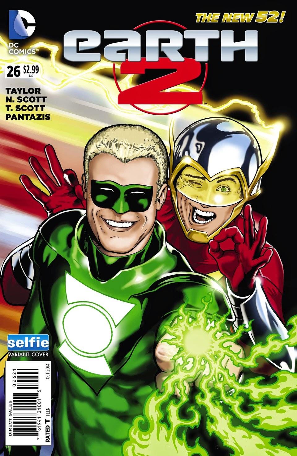 Green Lantern and Flash Selfie