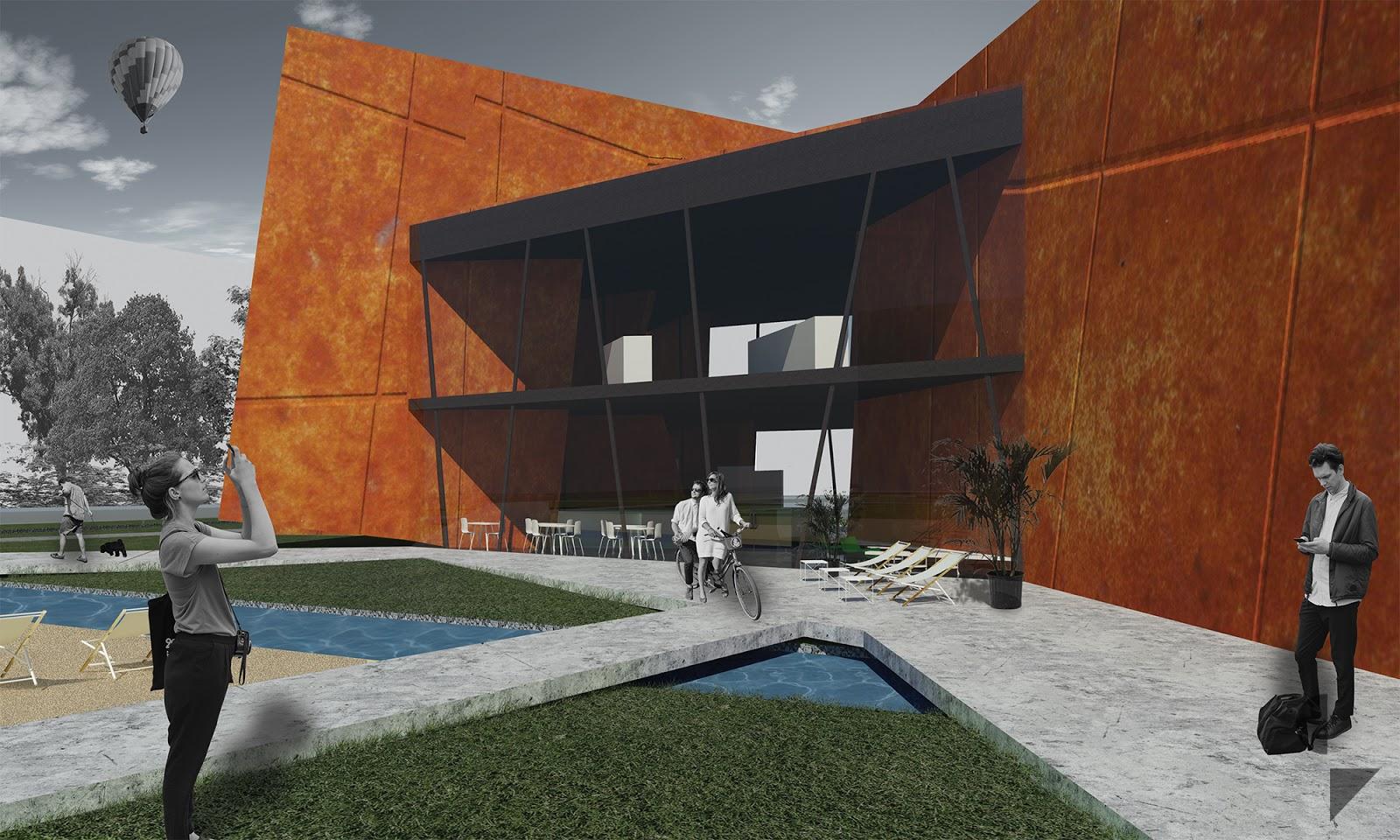 wizualizacja architektoniczna z zewnątrz