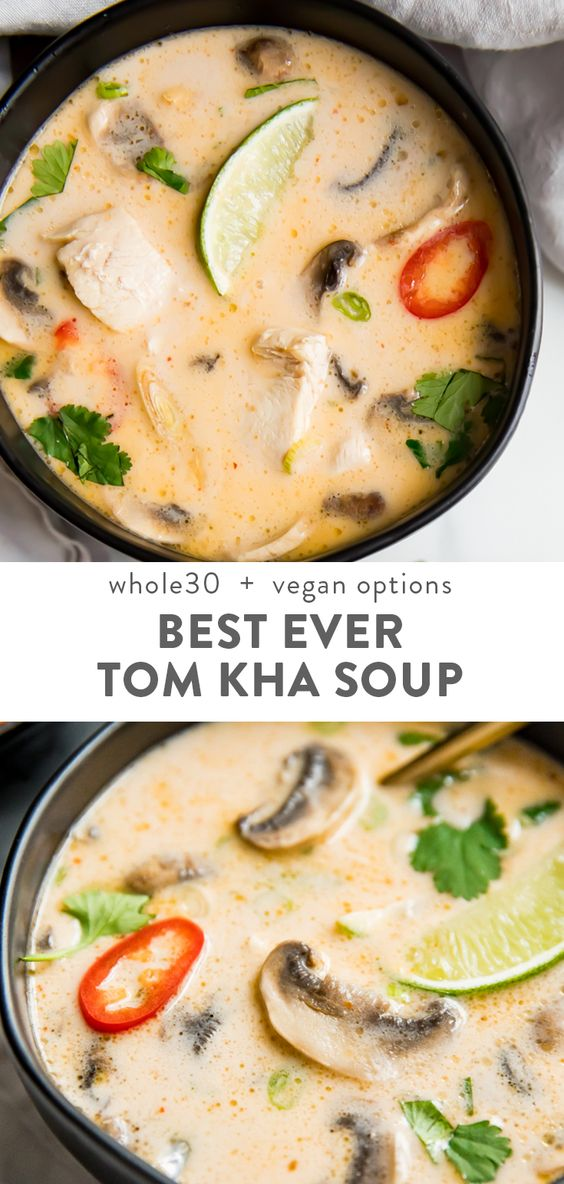 This tom kha soup (Thai coconut soup) is absolutely perfect. Rich and creamy yet tangy and salty, this Thai soup is filling but light and positively bursting with flavor. The very best recipe I've
