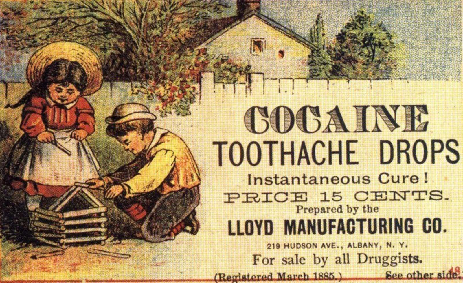 Nothing like treating that tooth pain with a little cocaine addiction.