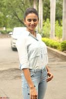 Rakul Preet Singh in Jeans and White Shirt At Jaya Janaki Nayaka le Logo Launch ~  Exclusive 034.JPG