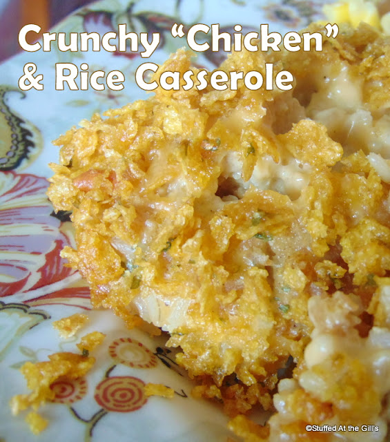 Vegetarian Chicken Rice Casserole