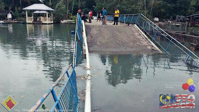 Jambatan Sungai Kopok runtuh
