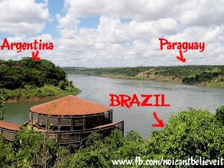 where argentina paraguay and brazil meet on the iguazu river