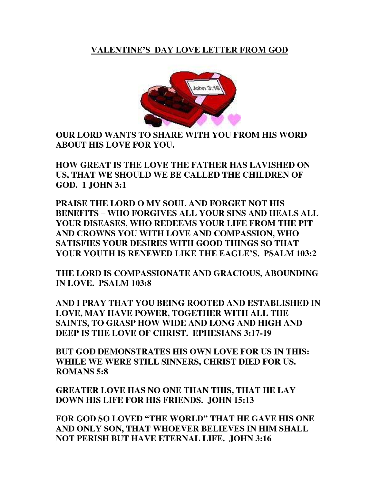 Valentines Day Love Letters For Him Her