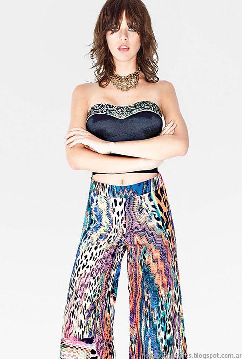 Moda ropa de fiesta 2015. Tops, pantalones 2015 y looks Silvina Ledesma primavera verano 2015 moda.