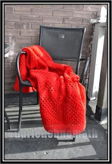 Crocheted Granny Square Blanket