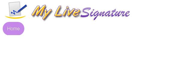 My live signature - Solo nuevas