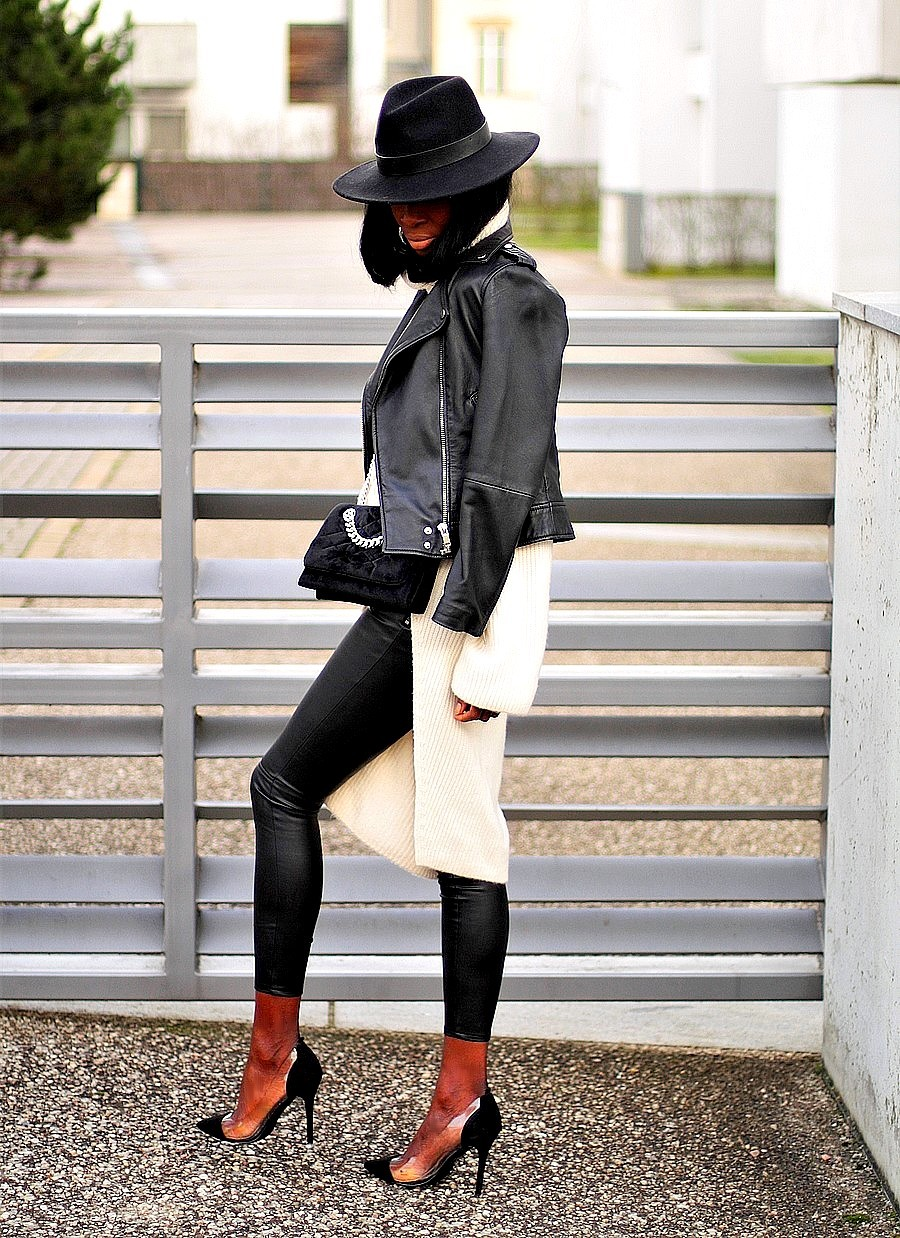 inspiration-look-chapeau-perfecto-cuir-zara-pull-legging-cuir-escarpins-asymetriques