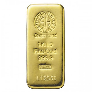 Lingote de oro 1 Kg.