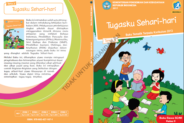 Download Buku K13 Revisi 2017 Kelas 2 SD/MI Semester 1