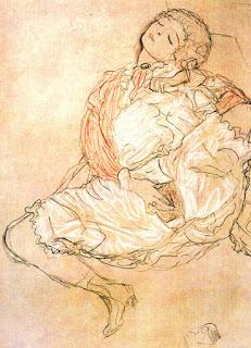 Gustav Klimt Masturbación