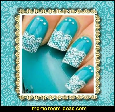 3D Transfer Lace Design Nail Art Sticker Manicure Nail Decal