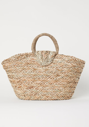 H&M Straw Basket Bag