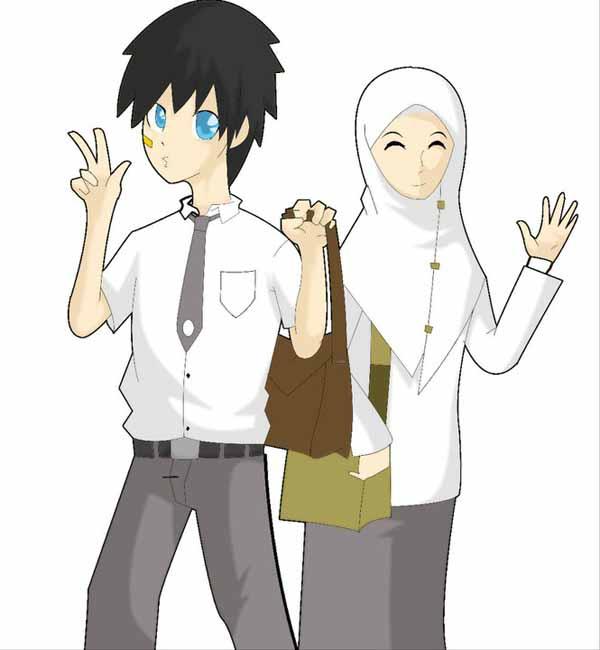 99 Gambar Kartun Muslim Muslimah Islami DP BBM