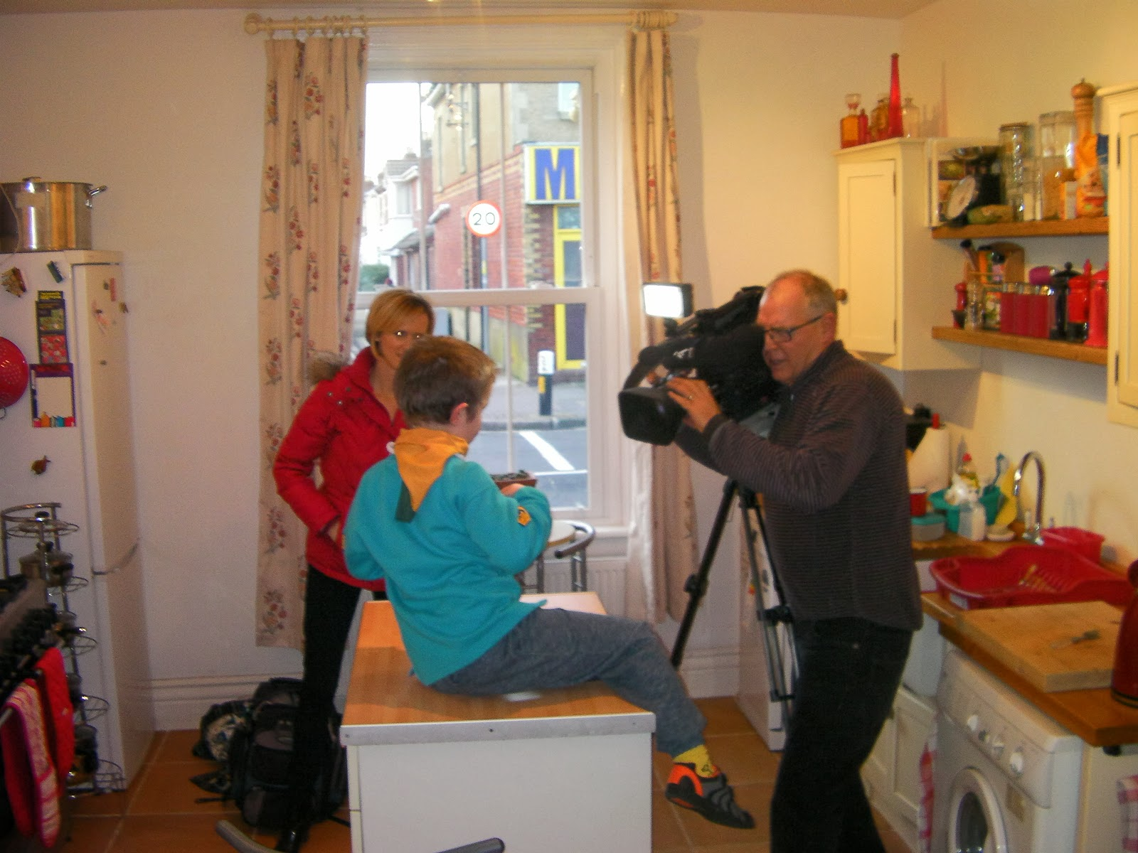bbc local tv south today doing interview in kitchen