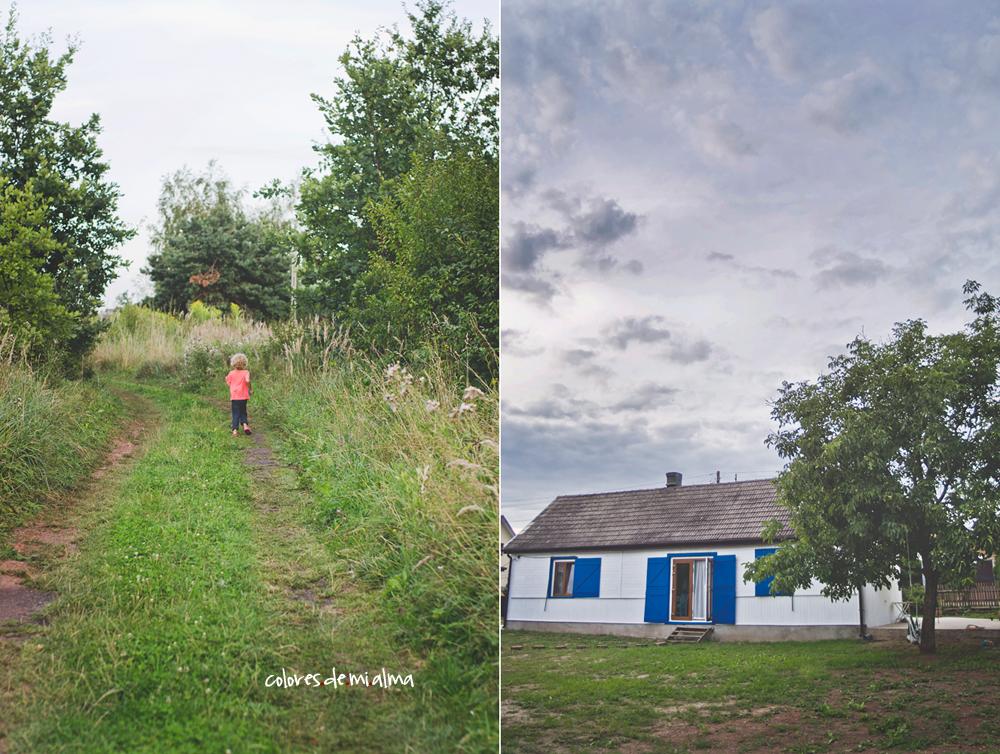 polskie santorinii, metamorfoza dom, drewniany dom, wood house, blue shutters
