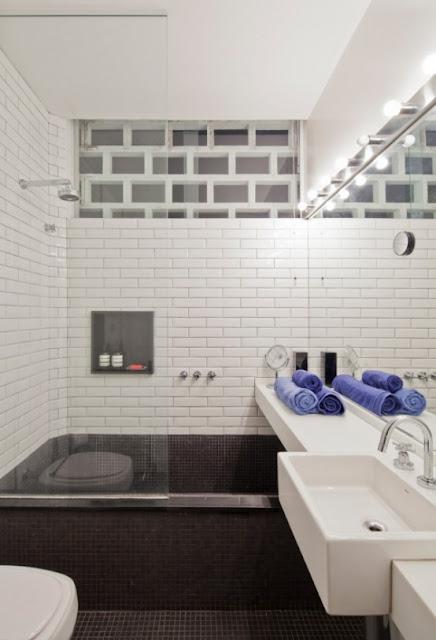 ванная комната черно-белый интерьер